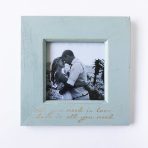 Blue all you need is love frame Bleached Wooden Furniture and Decor South Africa