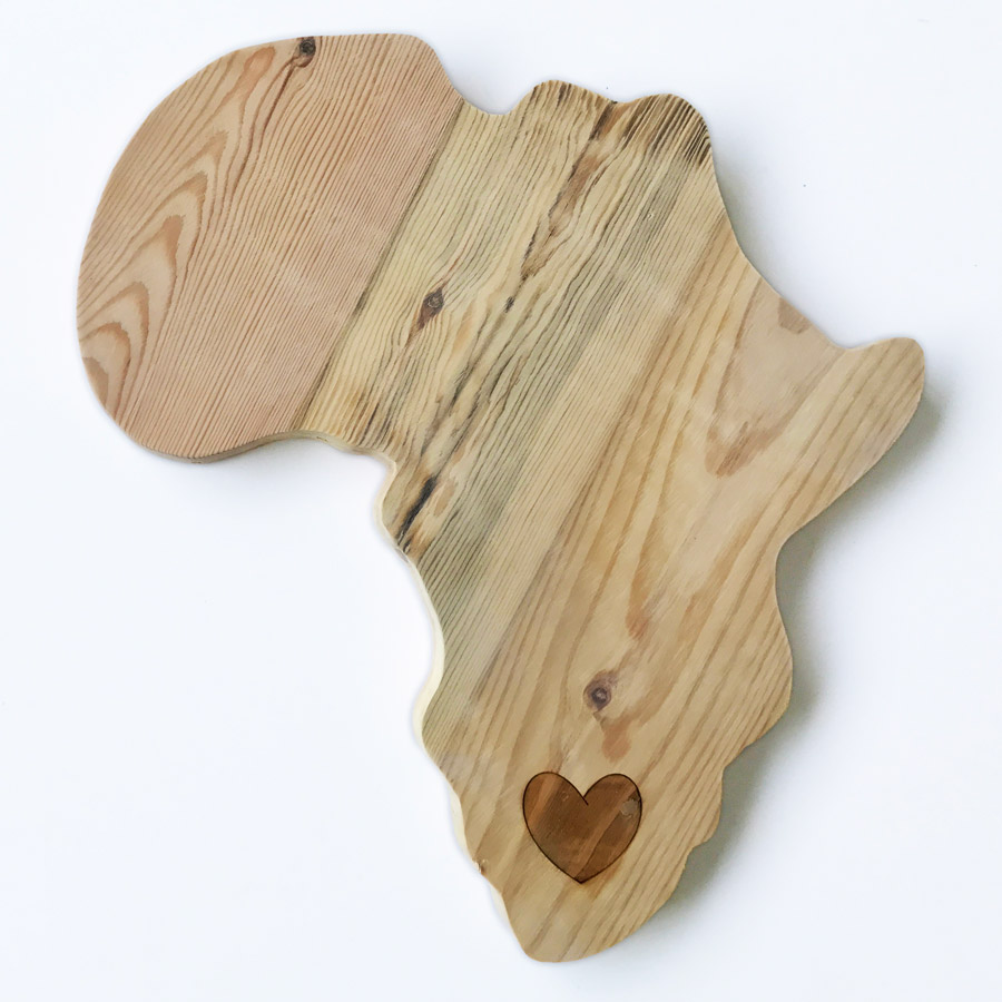 Wooden Africa Cheeseboard Bleached Wooden Furniture Amp Decor