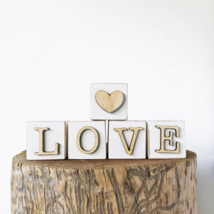 Block Letters Bleached Wooden Furniture and Decor South Africa