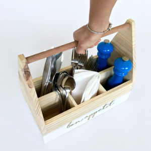 Cutlery Caddy Bleached Wooden Furniture and Decor South Africa