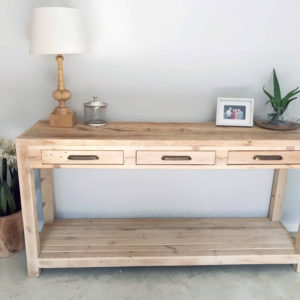 Lambie Server with Shelf Bleached Decor