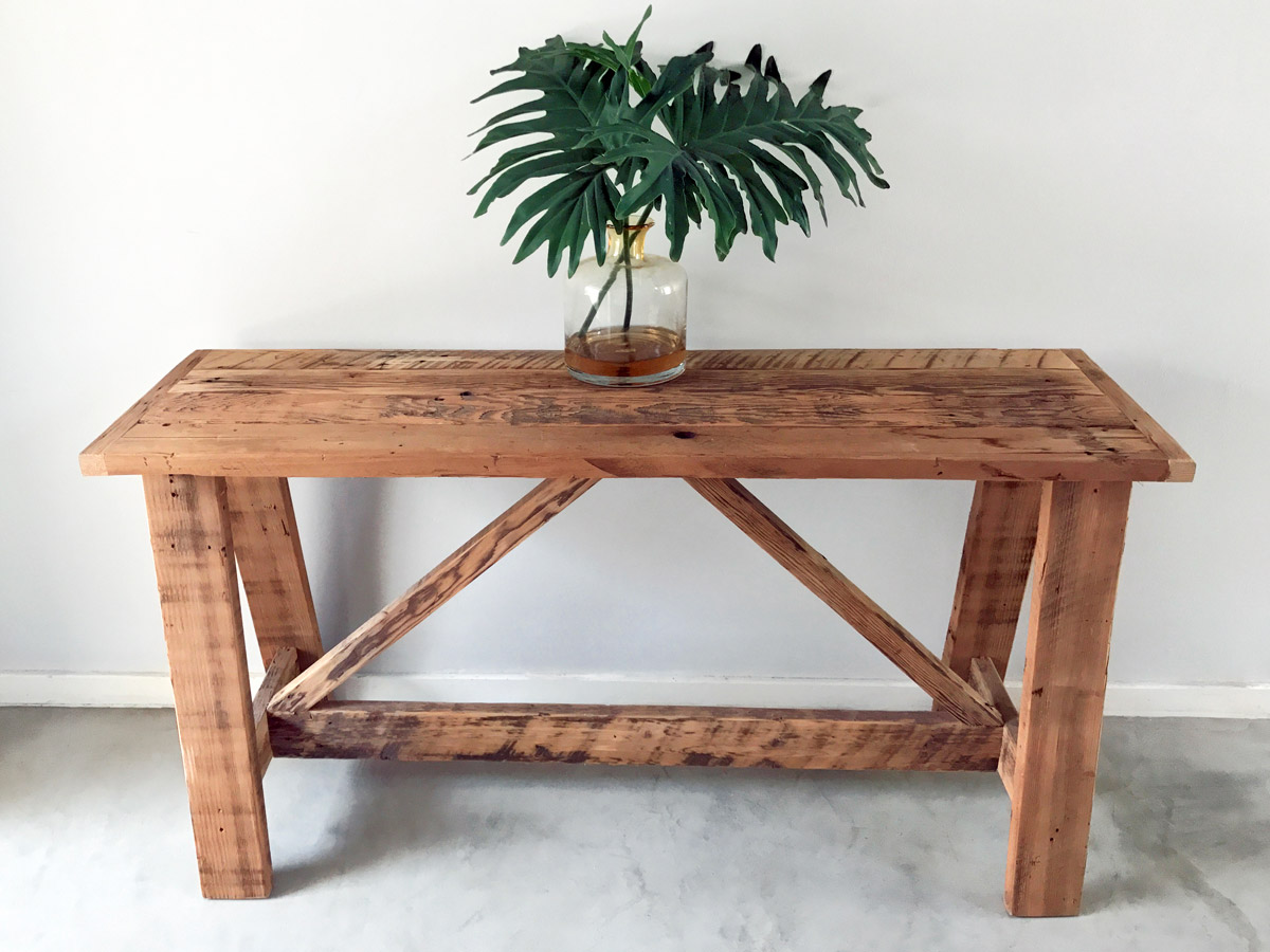 Trestle Server Bleached Wooden Furniture And Decor South Africa