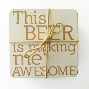 beer coaster | laser engraved south africa | Bleached