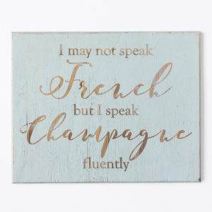 wall plaque | champagne | wooden décor | South Africa | Bleached