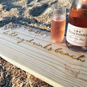 Wooden chopping board Hold my drinks beach Food board Bleached wooden furniture and decor South Africa