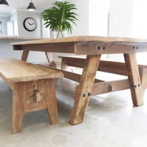 Barn style table, reclaimed timber table, modern rustic table, Bleached, South Africa