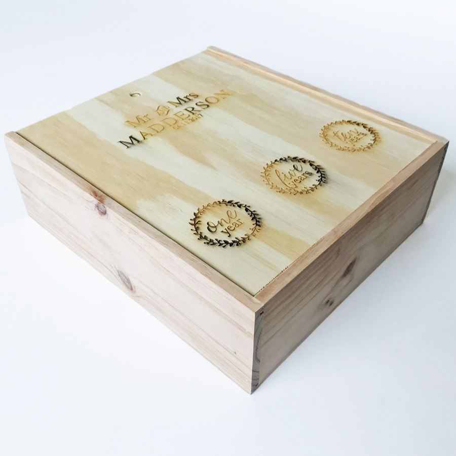 3 bottle wine box wooden wine box engraved wine box customised wine box & Laser Engraved Wine Box - Bleached