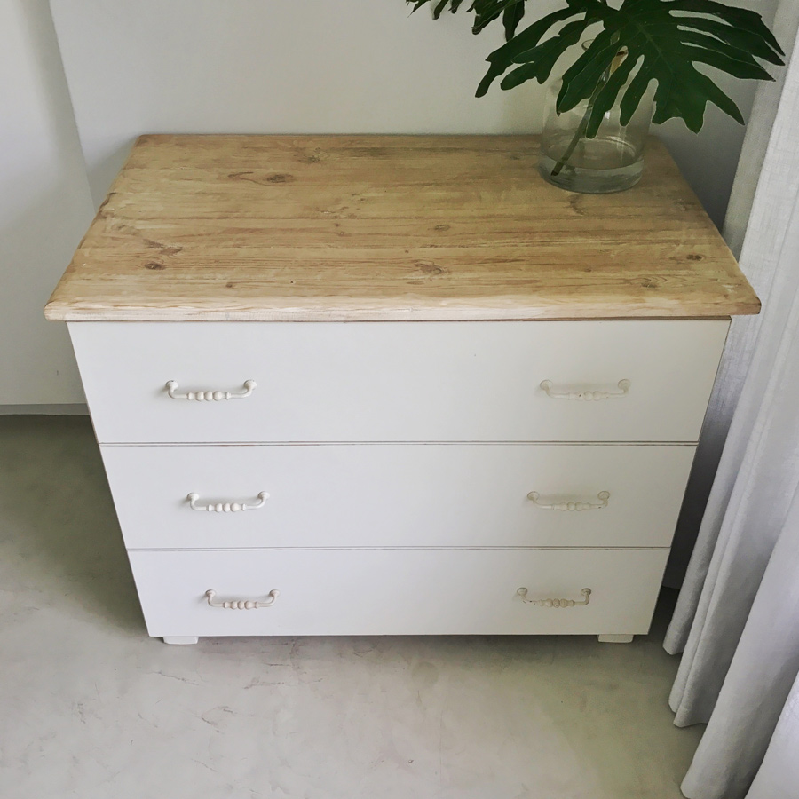 Standard Compactum 3 Drawers Bleached