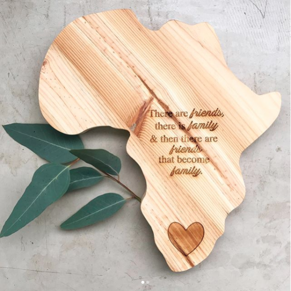 Africa cheese board | africa chopping board | africa, wooden board | friends that are family | friends | family | africa