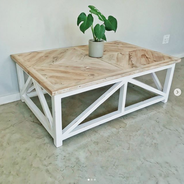 Two tone geometric coffee table, coffee table, geometric, two-tone, Bleacheddecor, Bleached South Africa