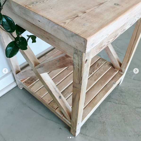 X-cross side table, wooden side table, side table, Bleacheddecor, Bleached South Africa