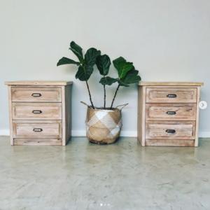 Bedside table, pedestal, richardson pedestal, 3 drawers, Bleacheddecor, Bleached South Africa