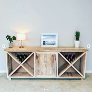 wine server, wooden server, wine storage unit, dining room, bar, Bleacheddecor, Bleached South Africa