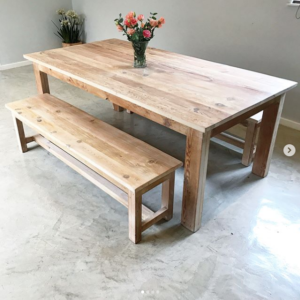Standard table   wooden furniture   dining room furniture   living room   dining room   Bleacheddecor   Bleached South Africa