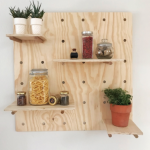 Peg Board | Peg wall | Wall peg board | pine plywood| Wooden shelf| Bleacheddecor | Bleached South Africa