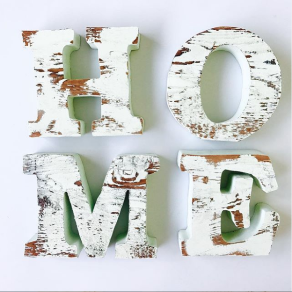 Wooden 3-D stand up letter made from reclaimed wood